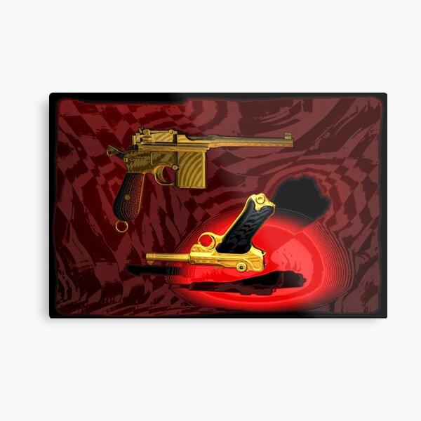 Mauser C96 & Luger P08 (Parabellum) - Pop Art Guns Metal Print
