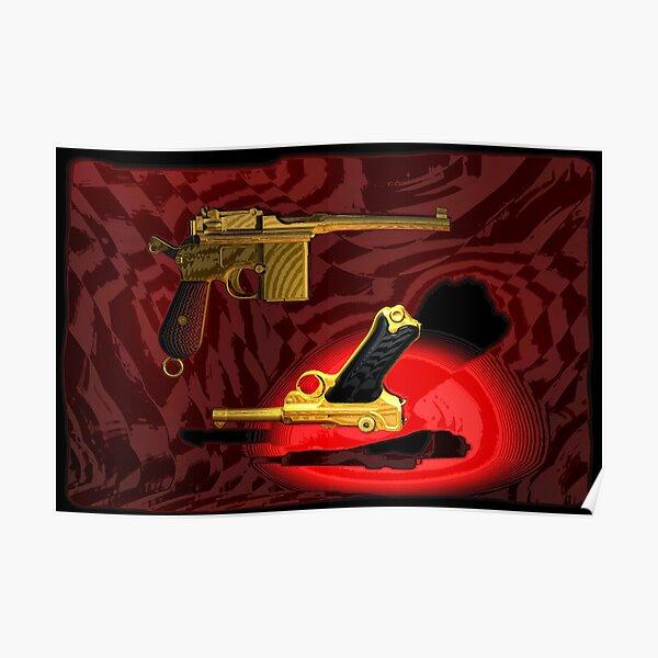 Mauser C96 & Luger P08 (Parabellum) - Pop Art Guns Poster