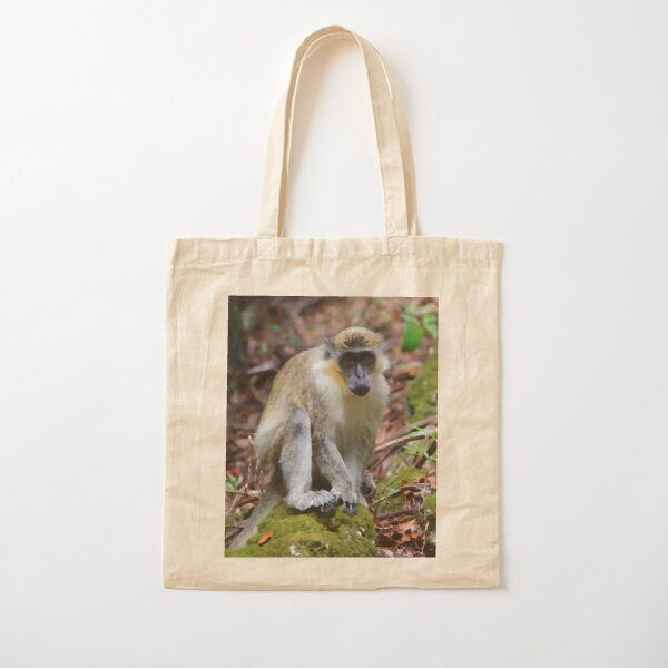 Barbados Monkey Cotton Tote Bag