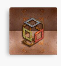 Exploded Open Cube RGB Canvas Print