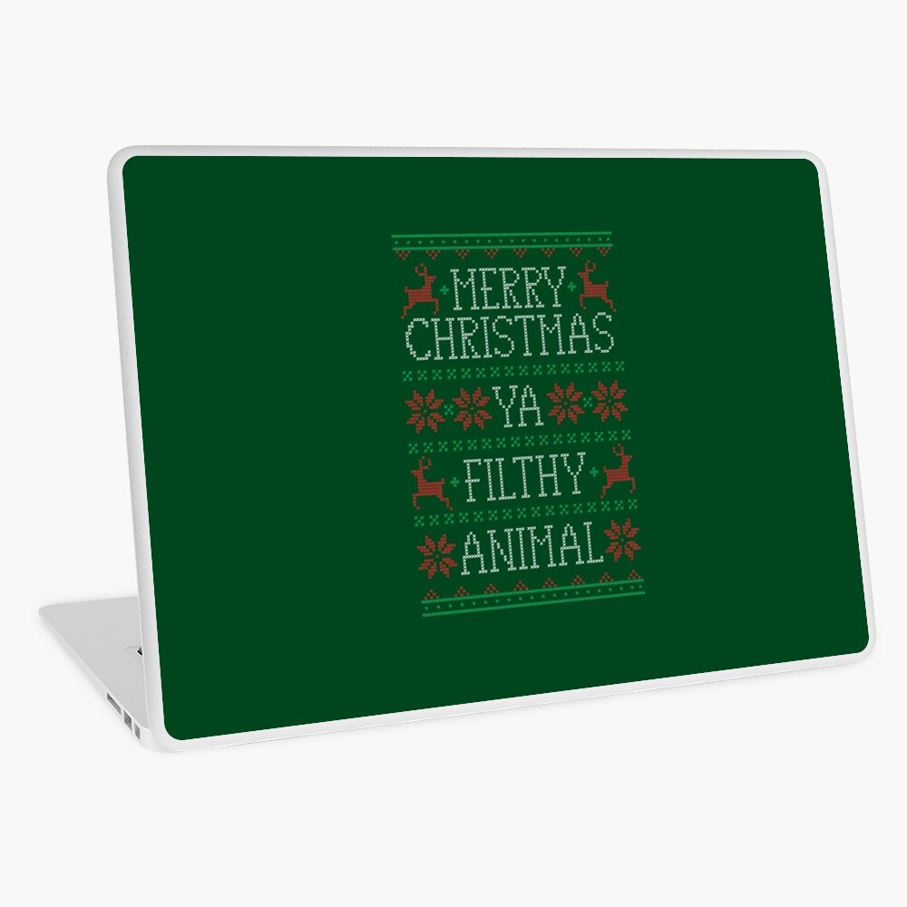 Frohe Weihnachten Ya Filthy Animal Laptop Folie
