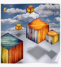 Cubes Aloft Variety Poster