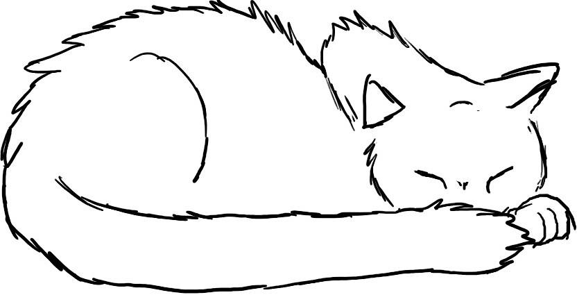 Sleepy cat by annafama