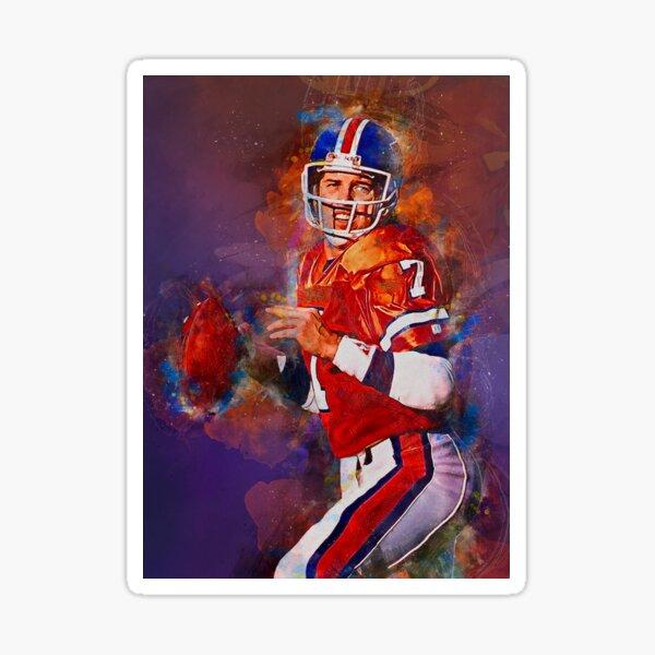 Elway Broncos Mischtechnik Sticker