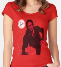 Mike Strutter red  Women's Fitted Scoop T-Shirt