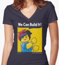 WE CAN BUILD IT! Women's Fitted V-Neck T-Shirt