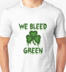 We Bleed Green Irish Shirt T-Shirt