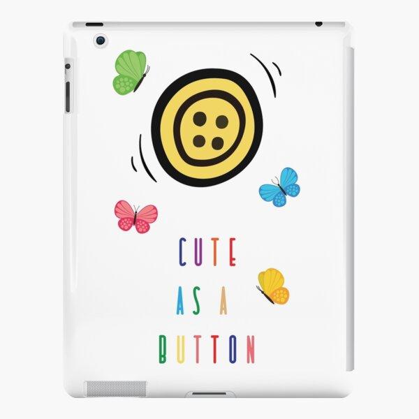 Cute as a button iPad Snap Case