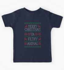 Frohe Weihnachten Ya Filthy Animal Kinder T-Shirt