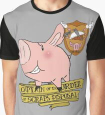 Sir Hawk, Captain of Scraps Disposal Graphic T-Shirt