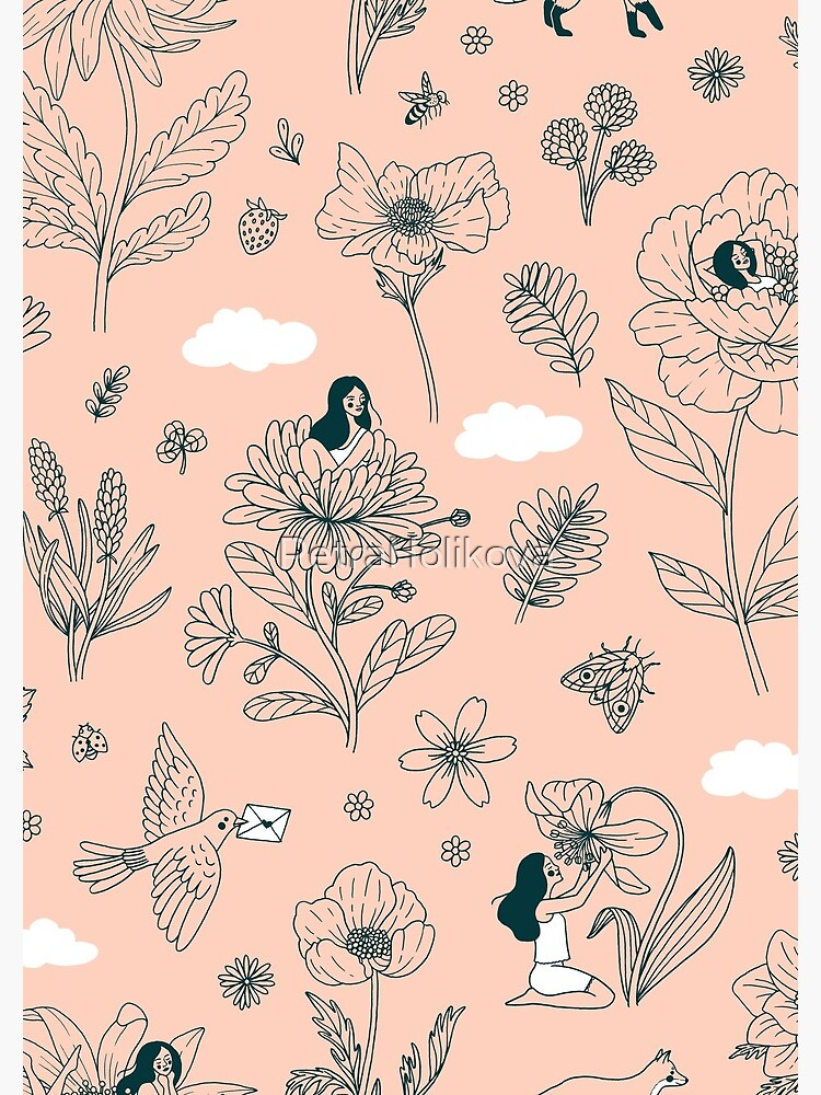Girls and Flowers by PetraHolikova