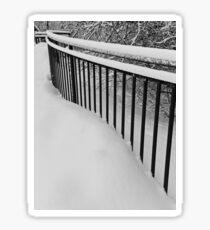 Snow Standing Fence Sticker