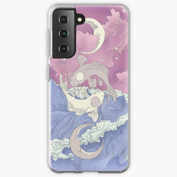 Tui und La, Mond- und Ozeangeister Jugendstil Samsung Galaxy Flexible Hülle