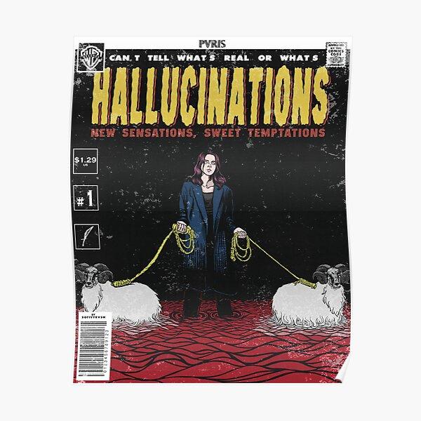 Hallucinations comic cover // PVRIS Poster