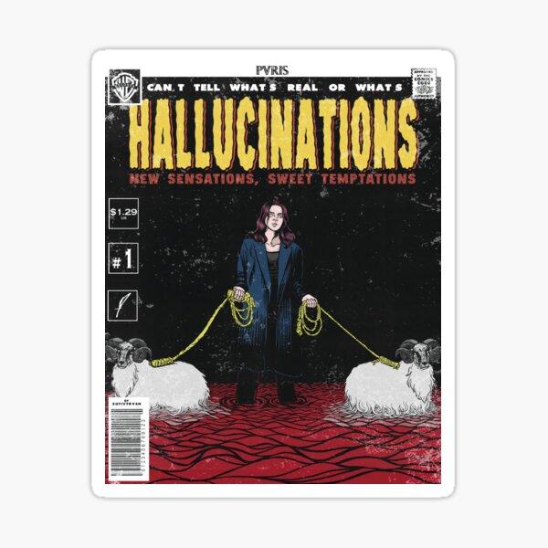 Hallucinations comic cover // PVRIS Sticker