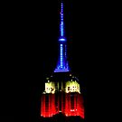 Red White & Blue Empire State Building by cammisacam