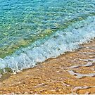 Sandy beach and waves by skyfish