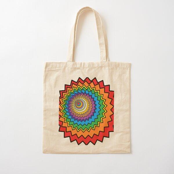Multicolor Star Cotton Tote Bag