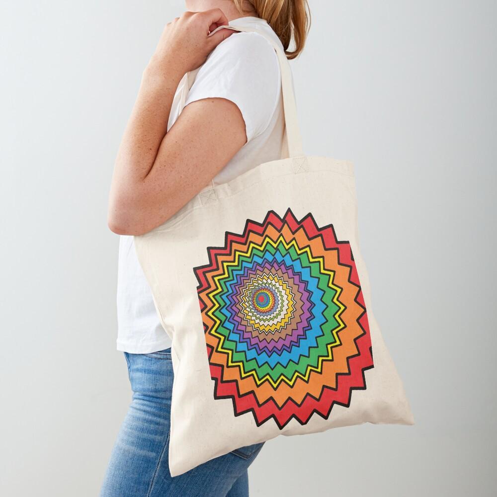 Multicolor Star Tote Bag