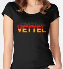 Sebastian Vettel - German Flag Women's Fitted Scoop T-Shirt
