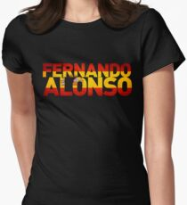 Fernando Alonso - Spanish Flag Womens Fitted T-Shirt