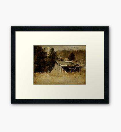 Shadows on the Barn Framed Print