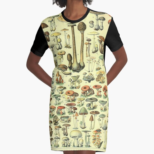 Adolphe Millot Champignon B Vestido camiseta