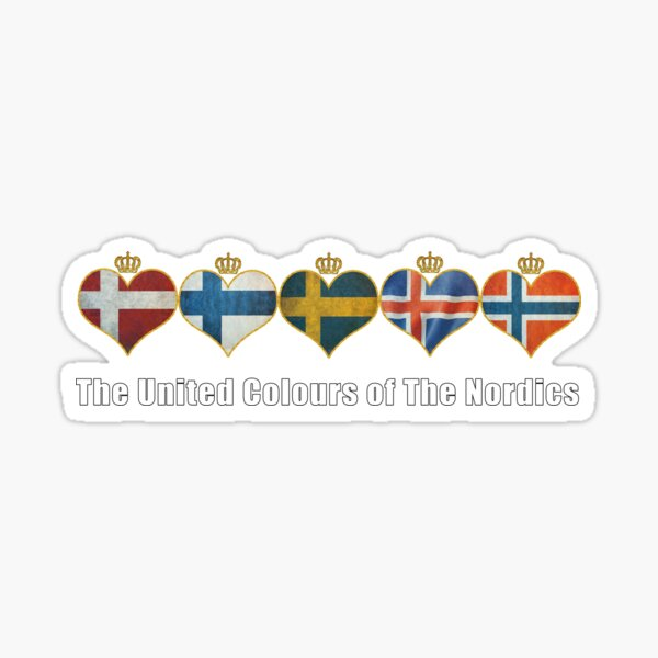 The United Colours of The Nordics Sticker