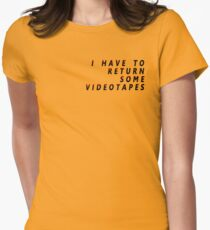 American Psycho - I Have To Return Some Videotapes Women's Fitted T-Shirt