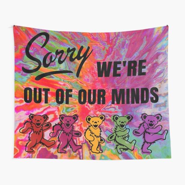 Tie Dye Dancing Bears tapestry Tapestry