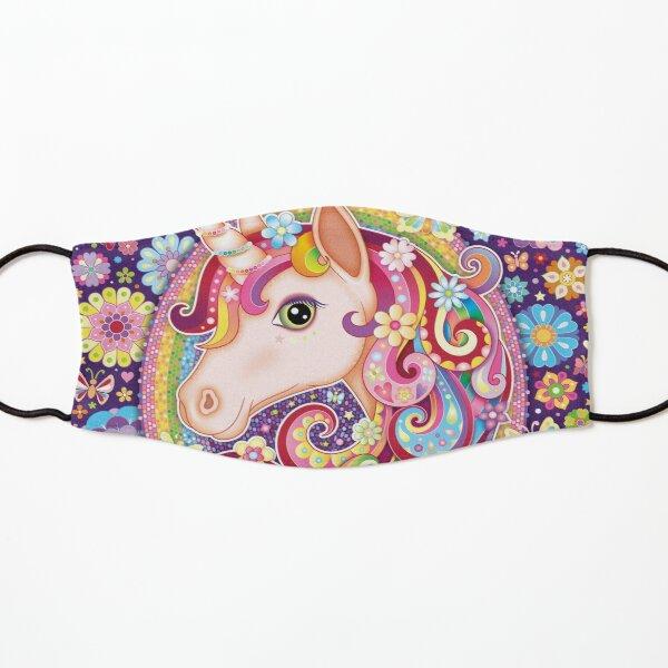 Unicorn Rainbow Art - Colorful Unicorn Art by Thaneeya McArdle Kids Mask
