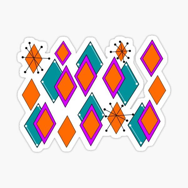 Mid Mod Diamonds Sticker