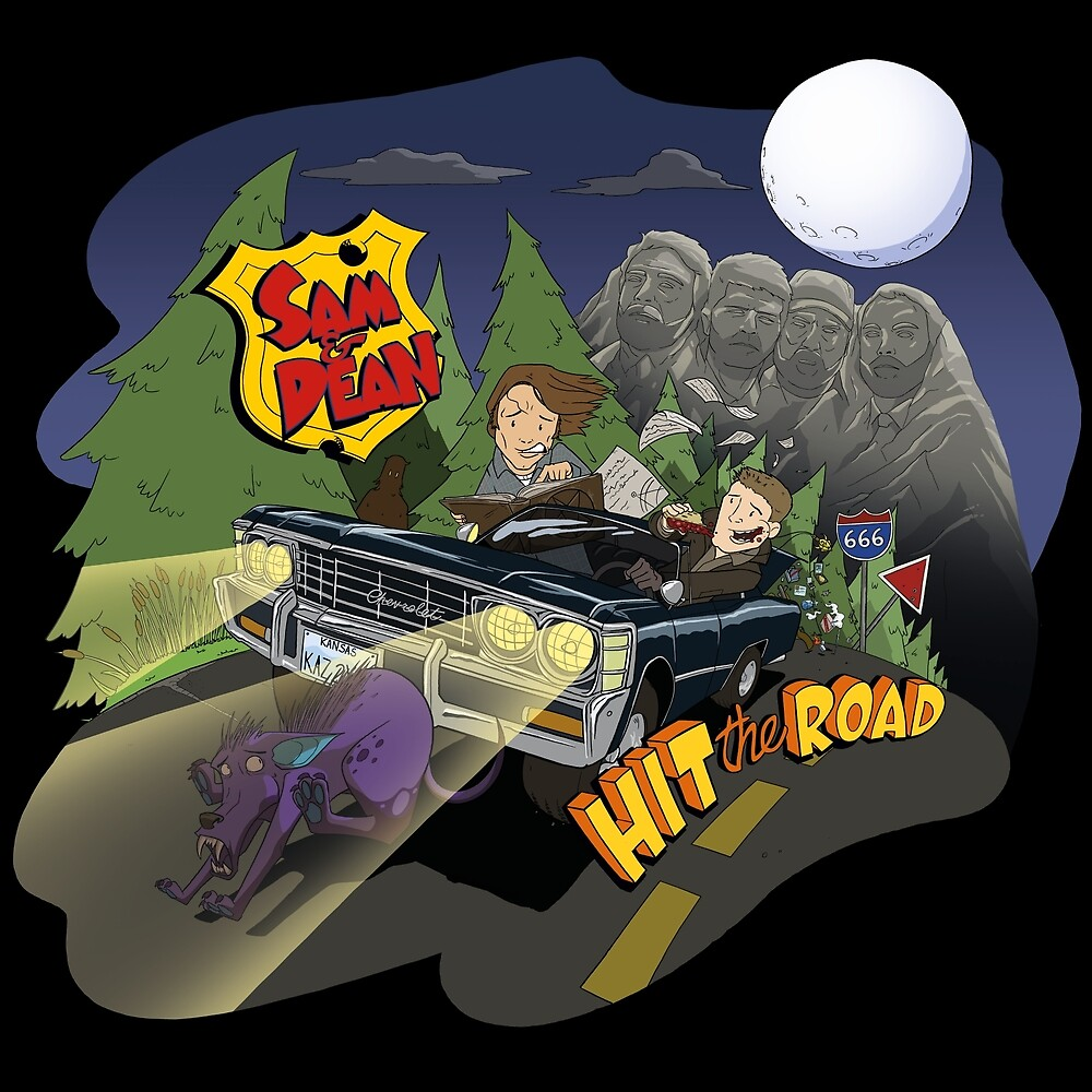 Sam and Dean hit the road by Moltenink