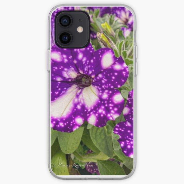Purple tye petunia  iPhone Soft Case