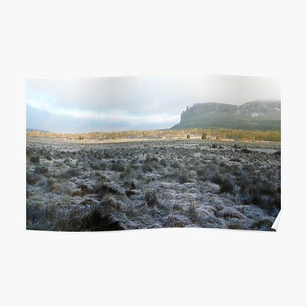 Morning Frost, Mt Oakleigh, The Overland Track Poster