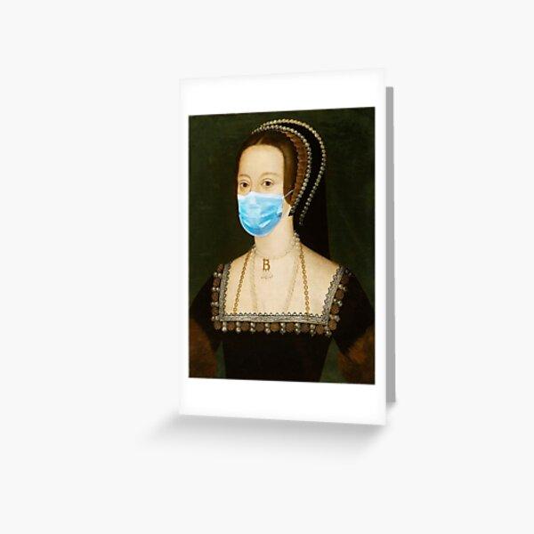 Anne Boleyn Mask Greeting Card