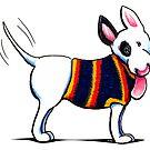 Bull Terrier in Blue by offleashart
