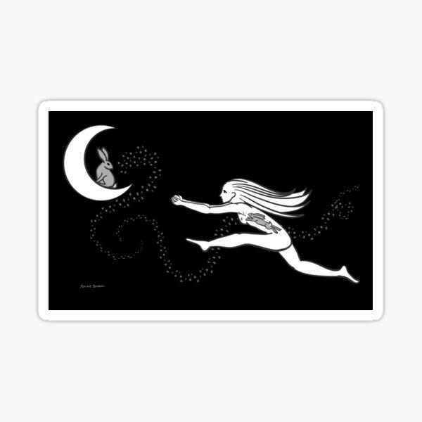 Rabbit in the Moon Sticker