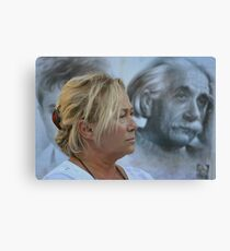 A model for a cartoonist Canvas Print