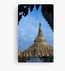 framed pagoda Canvas Print
