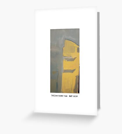 yellow tower 2 Greeting Card