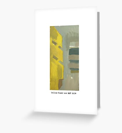 yellow tower 1 Greeting Card