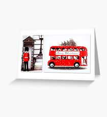 Merry Christmas from London  Greeting Card