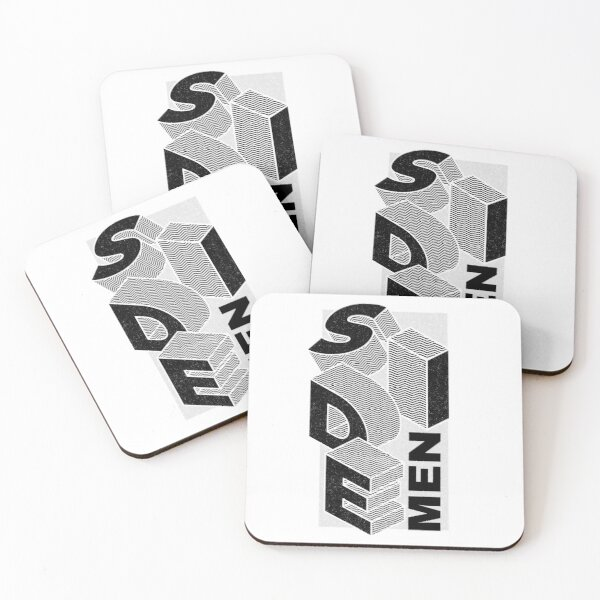 -isometric-letters-sidemen Coasters (Set of 4)