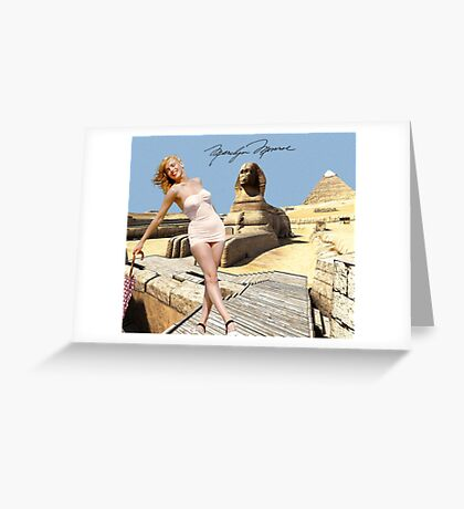 Marilyn and the Sphinx Greeting Card