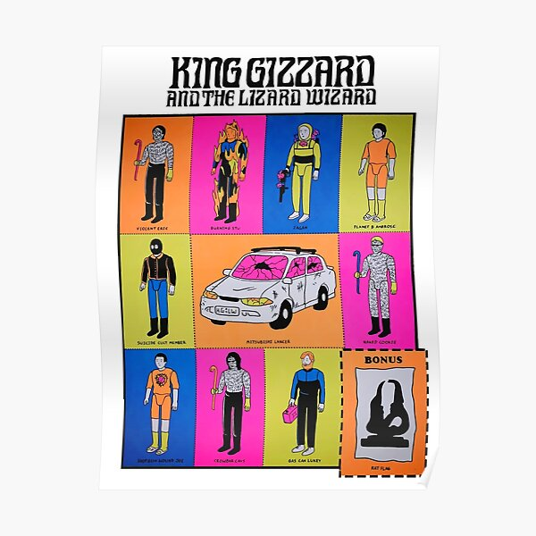 King Gizzard And The Lizard Wizard - Chicago August 24 2019 Poster