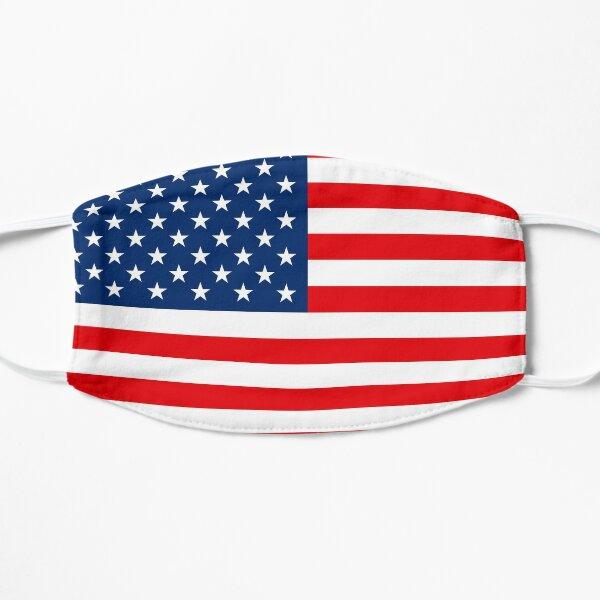 Amerikanische Flagge der USA (leuchtende Farben) Flache Maske