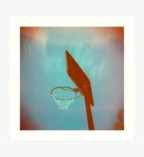 Basketball Ring Art Print