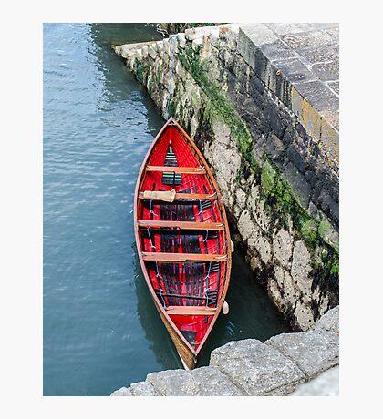 Red Canoe Photographic Print