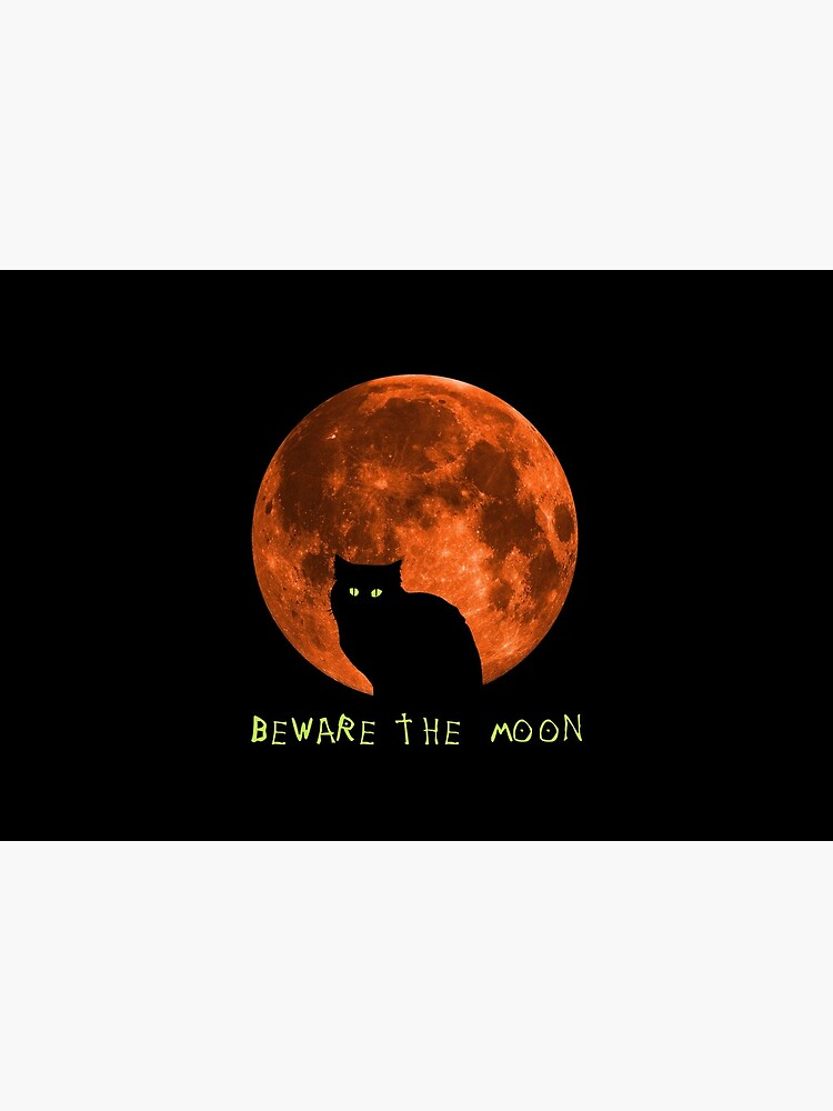 Black Cat | Beware The Moon | Halloween by Kittyworks